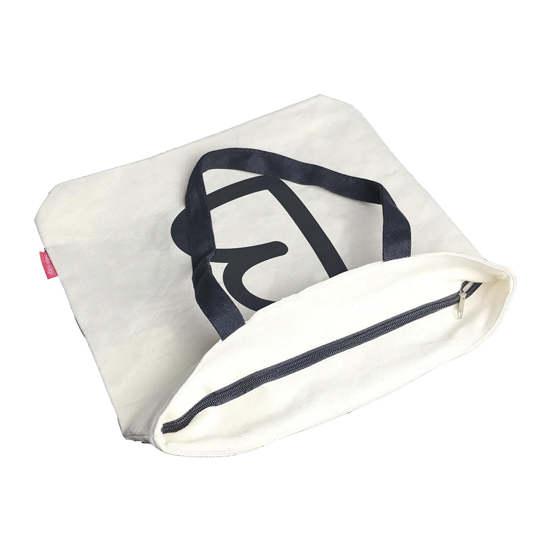 Bolso Tote con Cremallera Negro Forro y Bolsillo Interior Hello-Bags 38 cm